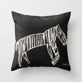 Zebra Collage Throw Pillow