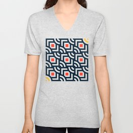 Round Pegs Square Pegs Navy Blue Unisex V-Neck