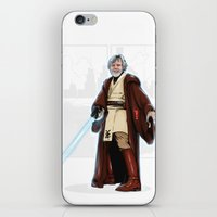 jedi iPhone & iPod Skins featuring Old jedi  by Akyanyme
