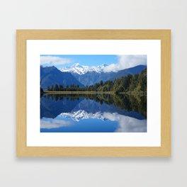 Lake Matheson, NZ Framed Art Print