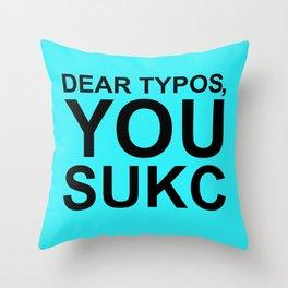 Typos Throw Pillow
