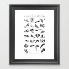 Animal Skull Alphabet Framed Art Print