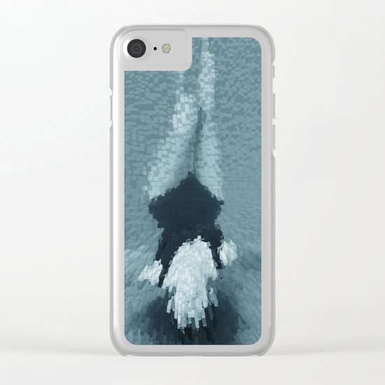 Swimming girl 2 Clear iPhone Case