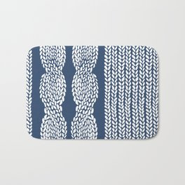 Cable Row Navy 1 Bath Mat