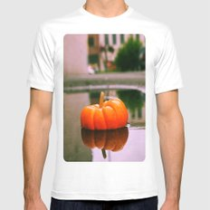 Pumpkin reflection MEDIUM White Mens Fitted Tee