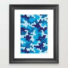 CUBOUFLAGE BLUE Framed Art Print