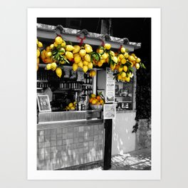 Lemon Juice Art Print