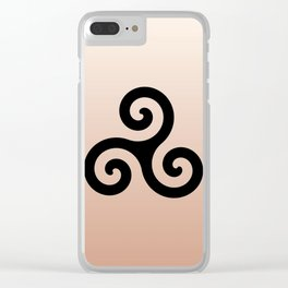 Triskele 7 -triskelion,triquètre,triscèle,spiral,celtic,Trisquelión,rotational Clear iPhone Case