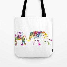 Three happy elefants Tote Bag
