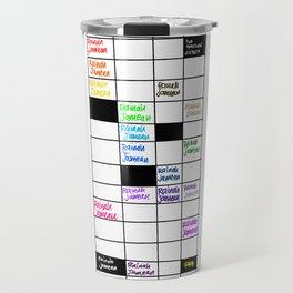 Rainah Jamean Crossword Puzzle Travel Mug