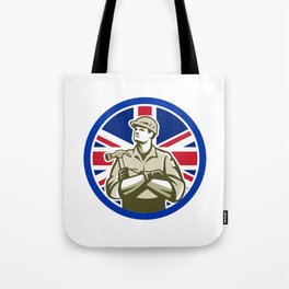 British Builder Union Jack Flag Icon Tote Bag