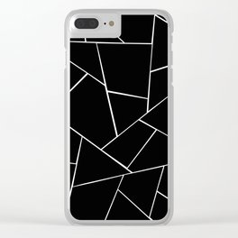 Black White Geometric Glam #2 #geo #decor #art #society6 Clear iPhone Case