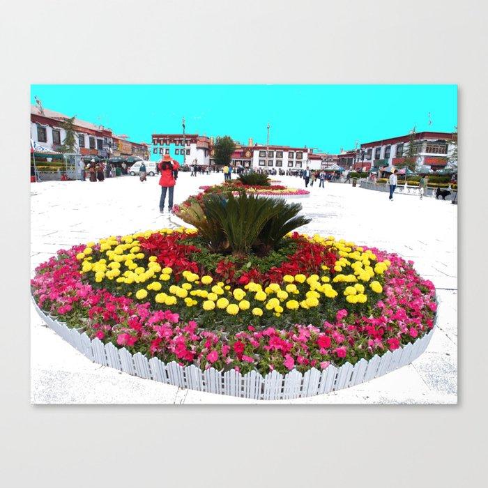 Cake Flower Canvas Print