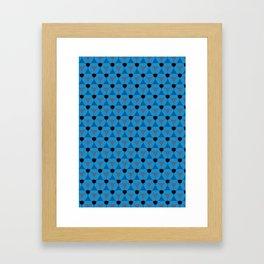 Reception retro geometric pattern Framed Art Print