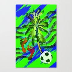 Soccer on the beach Canvas Print
