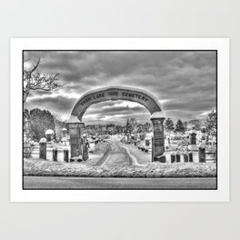 Swan Cemetery Gate - Cape Cod Art Print