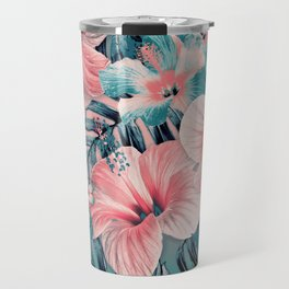 Vintage Jade Coral Aloha Travel Mug