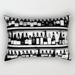 Wine Bottles in Black And White #decor #society6 #buyart Rectangular Pillow