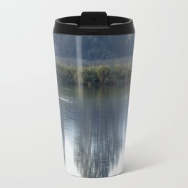 Solitary Blue Travel Mug