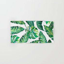 Jungle Leaves, Banana, Monstera #society6 Hand & Bath Towel