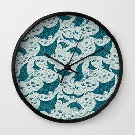 Manta ray Wall Clock
