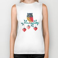 jazzberry Biker Tanks featuring OWL ALWAYS LOVE YOU by Daisy Beatrice