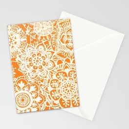 Burnt Orange Mandala Pattern Stationery Cards