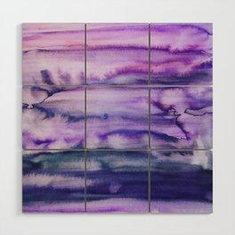 Power Purple Wood Wall Art