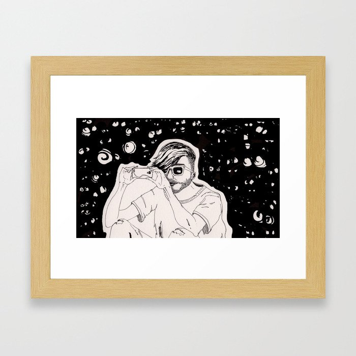 You Never Know Who's Watching. Framed Art Print
