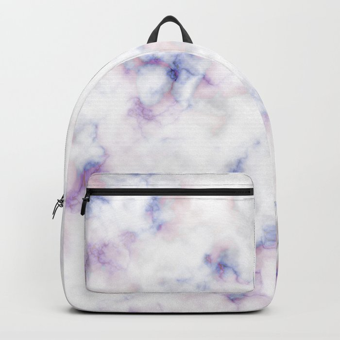 The pattern of blue marble with a red tint Backpack