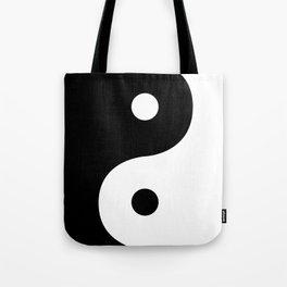 Yin And Yang Sides Tote Bag