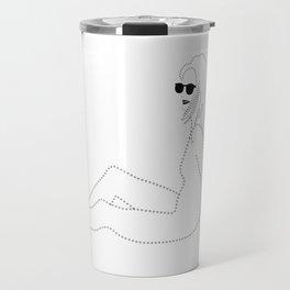 Beach Lady with Sunglasses Travel Mug
