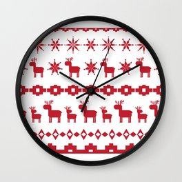 Christmas element Wall Clock
