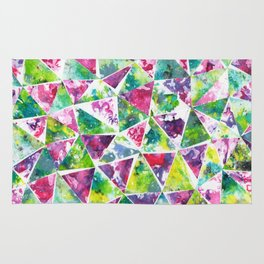 COLLAGE LOVE: Funky Triangles Rug