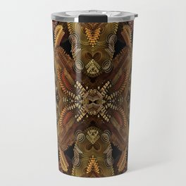 Fall Fractal Wreath Travel Mug