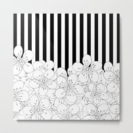 Cherry Blossom Stripes - In Memory of Mackenzie Metal Print