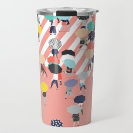 Crossing The Street On a Rainy Day Travel Mug
