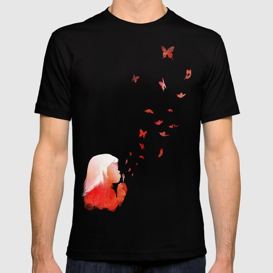 Blowing butterflies T-shirt