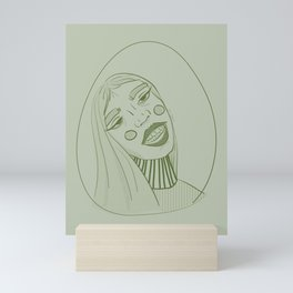 Behave, Miss Green. Mini Art Print