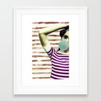 bubble Framed Art Prints featuring Bubble by Mi Nu Ra
