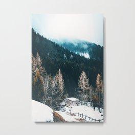 Fir Forest Winter Metal Print