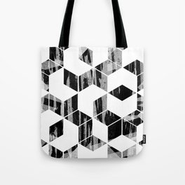 Elegant Black and White Geometric Design Tote Bag