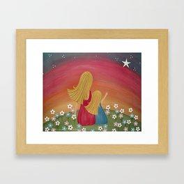 Wishing Star - Mother & Daughter Kids Art Framed Art Print