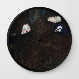 Gustav Klimt - Mutter mit zwei Kindern (Familie) Wall Clock