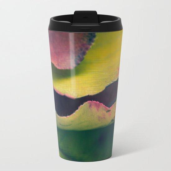 Fall Leaves II - Yellow, Lime Green, Red Purple Travel Mug