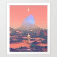 Lost Astronaut Series #02 - Giant Crystal Art Print