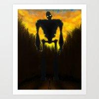 iron giant Art Prints featuring Iron Giant by RbMachado