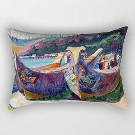 Emily Carr First Nations War Canoes in Alert Bay Rectangular Pillow