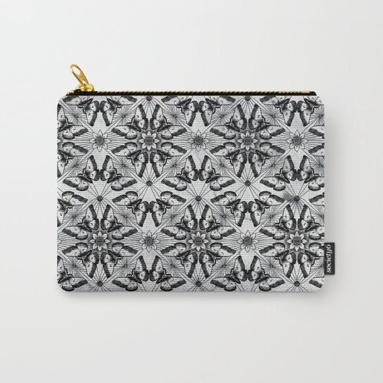 Marble black butterfly pattern Carry-All Pouch