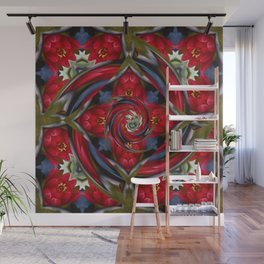 Water Lily Fractal Wall Mural